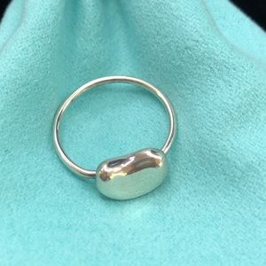 TC036 sterling Silver Peretti bean nugget ring 5.5